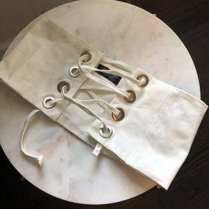 Zara white corset belt